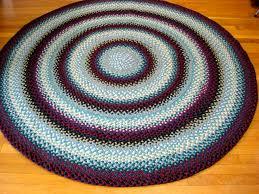 6 foot round braided rug zef jam