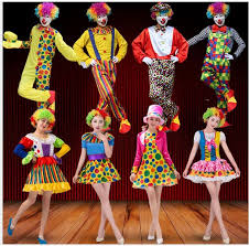 Holiday Variety <b>Funny Clown Costumes</b> Christmas Adult Woman ...