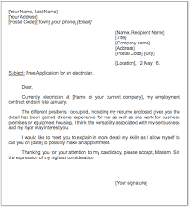 electrician cover letter samples electrician cover letter sample http exampleresumecv org