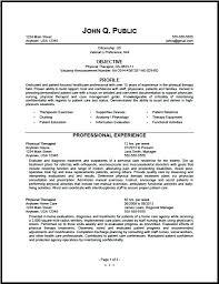 Occupational Therapist Resume Sample Physiotherapist Resume Sample