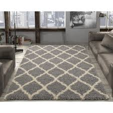 ottomanson ultimate gy contemporary moroccan trellis design grey 8 ft x 10 ft area rug shg2273 8x10 the home depot