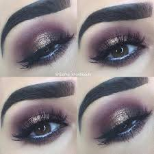 burgundy and dark gold glitter y eye for brown eyes