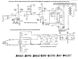 angela instruments angela super single ended 6v6 amplifier schematic