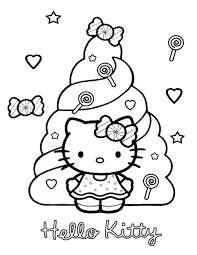 Small Picture Hello Kitty With Candies Coloring Page H M Coloring Pages