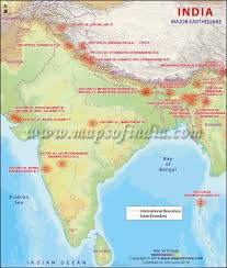A six zone map in 1962, a seven zone map in 1966, and a five zone map 1970/1984. Map Of Major Earthquakes Earthquakes In India