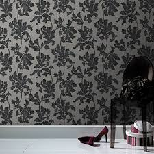 acanthus trail wallpaper designer black wall coverings by graham brown on graham and brown wall art amazon with superfresco acanthus wallpaper black grey amazon uk kitchen