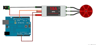 dji esc and brushless motor robotic controls the esc outputs a well regulated 3 33v on the small red wire which is enough for some microcontrollers and arduinos but not the arduino uno or mega