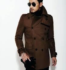 slim fit pea coat mens brown new autumn winter double ted wool coat men fit slim pea coat woolen mens slim fit black pea coat slim fit navy pea coat