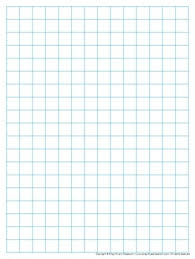 Graph Paper Full Page Grid Half Inch Squares 14x19 Boxes No