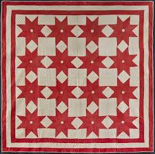 Infinite Variety: Three Centuries of Red and White Quilts ... & Circle in Star Quilt Artist unidentified. United States 1880–1910. Pieced  cotton 78 x 76 in. Collection of Joanna S. Rose Photo by Gavin Ashworth Adamdwight.com