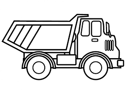Dump Truck Coloring Pages Free With Coloring Page Of Prepositions To