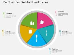 Balanced Diet Chart Ppt Ln Pie Chart For Diet And Health Icons Flat Powerpoint