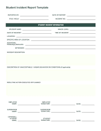 Security Incident Report Form Template Free Word Format