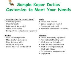 Girl Scout Camping Kaper Chart Template Image Result For Kaper Charts Camping Girl Scouts Girl