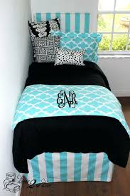 tiffany black quatrefoil custom designer teen girl dorm room bedding set designer headboard dorm room
