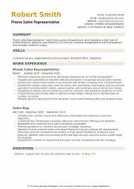 Telephone Sales Representative Resume Samples Phone Sales Representative Resume Samples Qwikresume