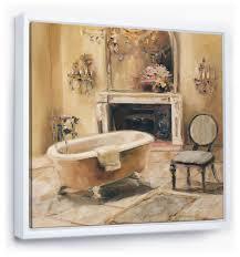 traditional bathroom framed artwork