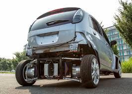 electric car motor. Test Vehicle With Wireless In-wheel Motors Installed In The Rear Wheels. Electric Car Motor U