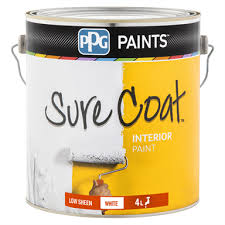 ppg 4l white sure coat low sheen wall