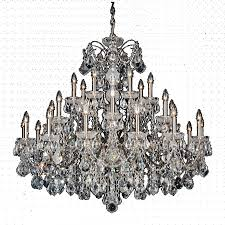 schonbek 1718 23 century 28 light crystal chandelier in etruscan gold with clear heritage crystal