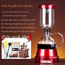 ₪☼Đế chế siphon điện máy pha cà phê gia dụng màn hình cảm ứng thủy tinh  bình thủ công xay bộ