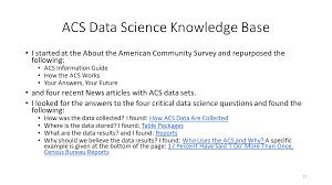 Data Science For American Community Survey Semanticommunityinfo