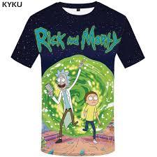 <b>KYKU</b> Brand <b>Rick And Morty</b> T Shirt Men Anime Tshirt Chinese 3d ...