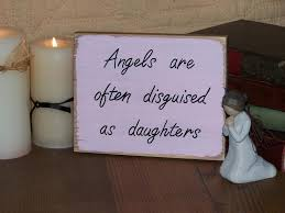 Quote Plaques Extraordinary Wooden Angel Plaque Wooden Home Decor Sign With Daughter Quote