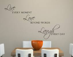 chic design live laugh love wall decor iron home stickers decorations in x contemporary art beyond words customizable wall decor