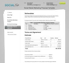 Marketing Proposal Template Free Social Media Proposal Template Free Onepiece 8