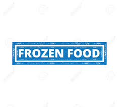 Food Product Label Design Template Square Frozen Food Product Label Grunge Textured Vector Design