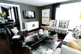 black cowhide rug salt pepper interior patchwork brown white and faux white cow hide rug black