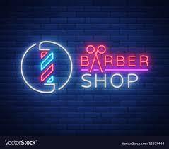 Neon Sign Logo Design Logo Neon Sign Barber Shop For Your Design