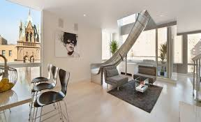East Village new york penthouse for sale with slide