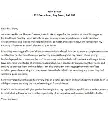 Cover Letter For Hospitality Job Hotel Cover Letter Examples Call