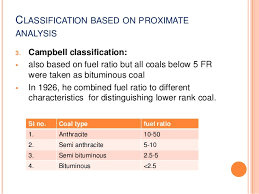 Coal Grade Chart Coal Classification