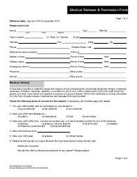 Medical Release Form For Child Custom Youth Medical Release Form First Presbyterian Church Palatka