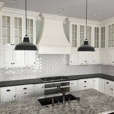 Subway Tile Patterns Backsplash Inspiration Classic Subway Tile Laid With A Herringbone Pattern In One Of Our
