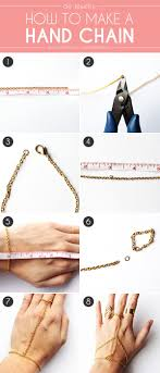 diy jewelry how to make a hand chain