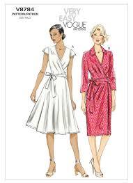 Vogue Patterns Dresses Amazing V48 Misses' TuckedBodice Wrap Dresses Sewing Pattern Vogue