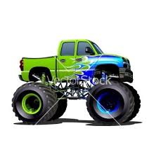 cartoon monster truck vector image on
