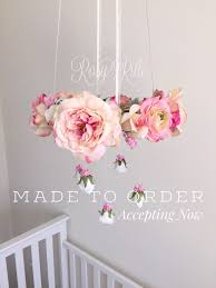 baby pink chandelier mobile