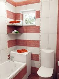 Red White Stripe Bathroom