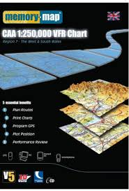 Caa England South Chart Memory Map Civil Aviation Authority 1 250 000 Region 7