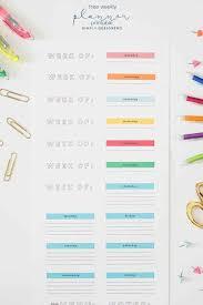 Free Weekly Printable Planner