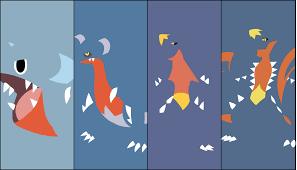 Garchomp Evolution Chart Download Wallpaper Gible Gabite Garchomp And Mega Garchomp
