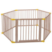 6 panel foldable wooden frame baby playpen baby fence