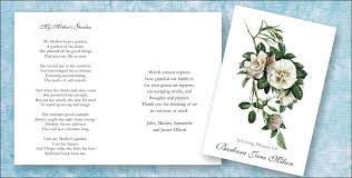 Funeral Words For Cards Fascinating Funeral Memorial Poems Memorial Funeral Stationery Blog