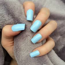 Baby Blue Square Acrylic Nails New Expression Nails