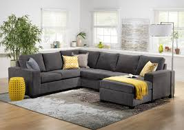 Living Room Furniture - Danielle Sectional with Modular Chaise - Grey